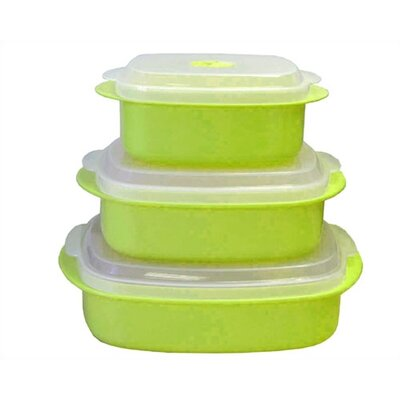 Calypso Basics Microwave Steamer Set in Lime