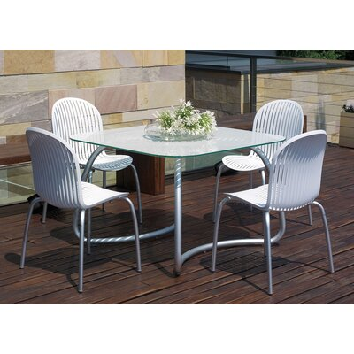 Nardi Loto 110cm Table with Ninfea Chairs in White