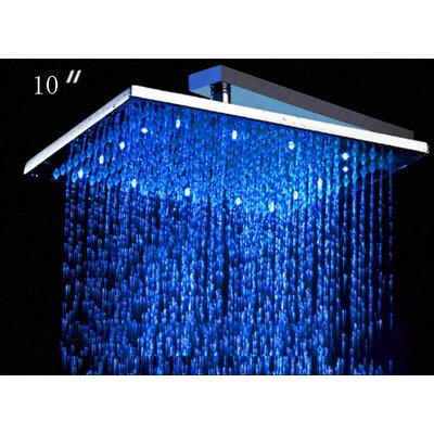 Alfi Brand 10&quot; Square LED Rain Shower Head