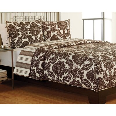 Eva 3 Piece Full/Queen Quilt Set