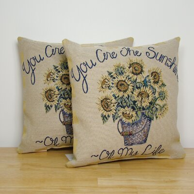 American Mills You Are My Sunshine Pillow (Set of 2)