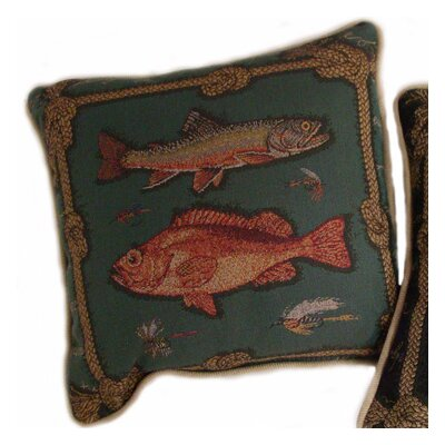 American Mills Framed Fish Pillow (Set of 2)