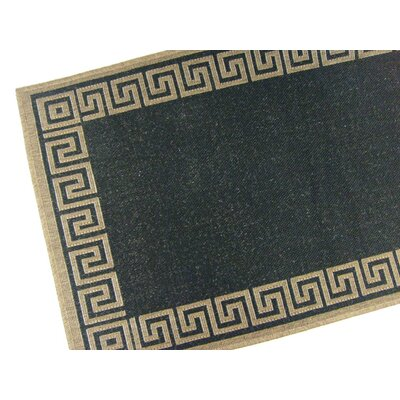 American Mills Greek Key Black Rug