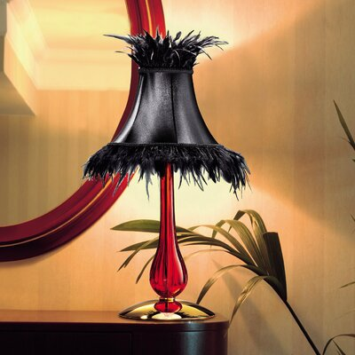 "Leucos Cheope Plus 25.25"" H Table Lamp with Bell Shade"