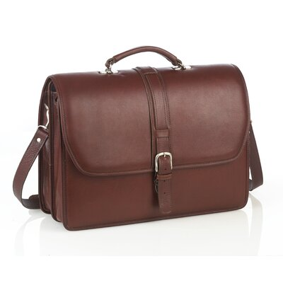 Aston Leather Leather Laptop Briefcase