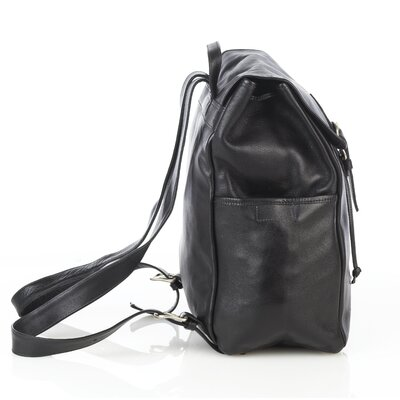 Aston Leather Premium Leather Backpack with Side Pockets