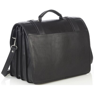 Aston Leather Quad Compartment Briefcase