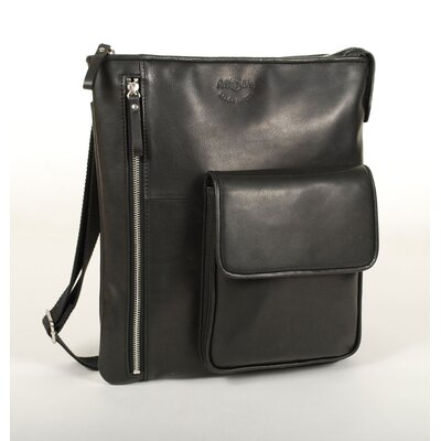 Vertical Shoulder Bag with Front Pocket