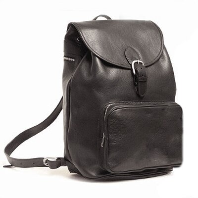 Aston Leather Large Leather Backpack with Front Pocket