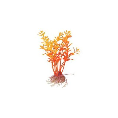 Pure Aquatic Natural Elements Flaming Lindernia Aquarium Ornament in Orange