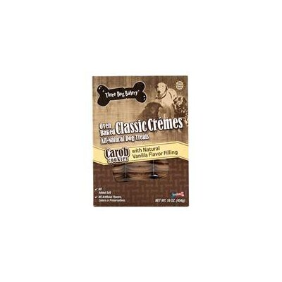 Three Dog Bakery Classic Cremes Vanilla Carob Cookies Dog Treat