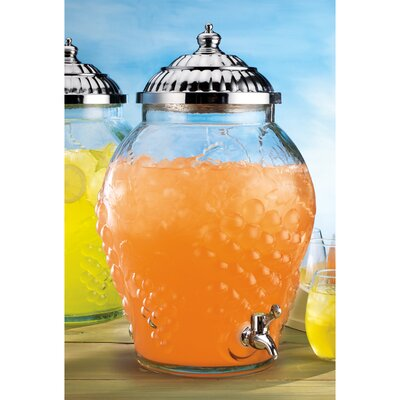 Home Essentials Del Sol Grape Embossed Round Drink Dispenser