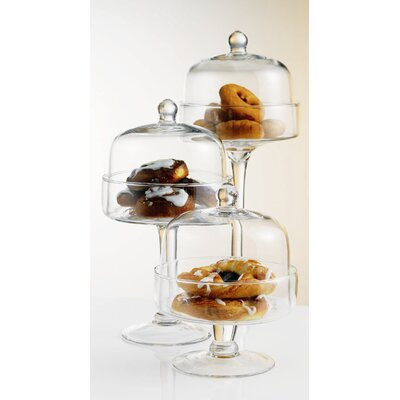 Home Essentials Covered Pastry Stand (Set of 3)