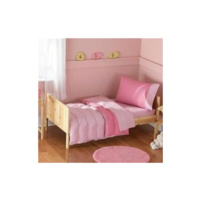 beansprout Toddler Bedding 4 Piece Toddlar Bed Set Light Pink / Dark Pink