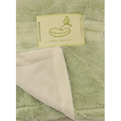 beansprout Luxe Mink to Micro Mink Crib Throw Blanket