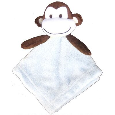 Monkey Coral Fleece Crib Throw