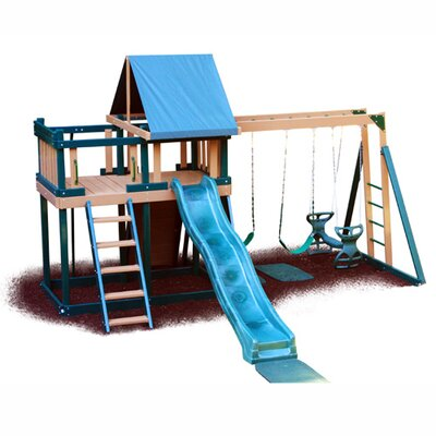 Kidwise Congo Monkey Playsystem #1 with Swing Beam in Green / Brown