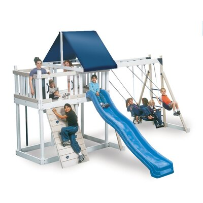 Kidwise Congo Monkey Playsystem #1 with Swing Beam in White / Sand