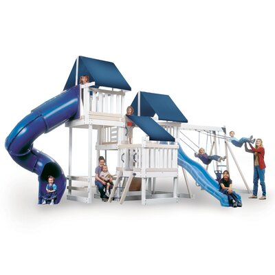 Kidwise Congo Monkey Playsystem #4 with Swing Beam in White / Sand