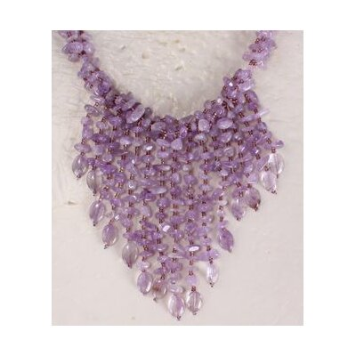 Light Amethyst Chips Necklace with Multi-Strand