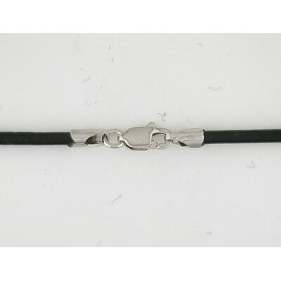 Amour Leather Cord Necklace in Black