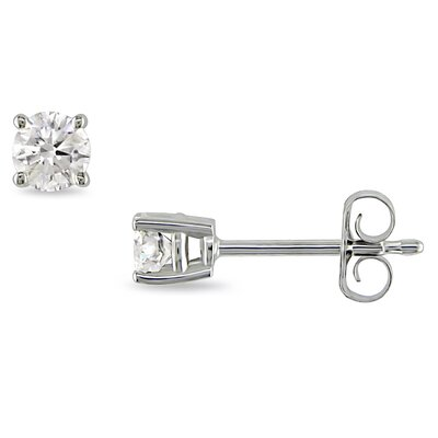 A Third of a Carat Solitaire Earrings
