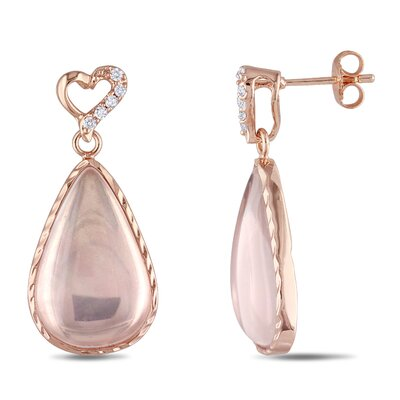 Amour Mada Rose Quartz Earrings