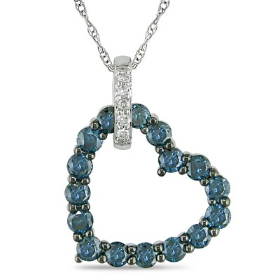 Amour Rope Chain Round Cut Diamonds Pendant