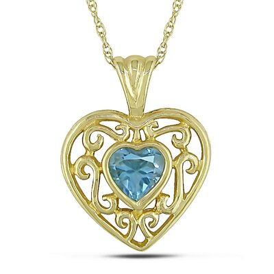 Heart Cut, Sky Topaz Gemstones Pendant