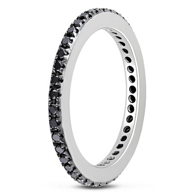 Amour White Gold Round Cut Diamond Stacking Ring
