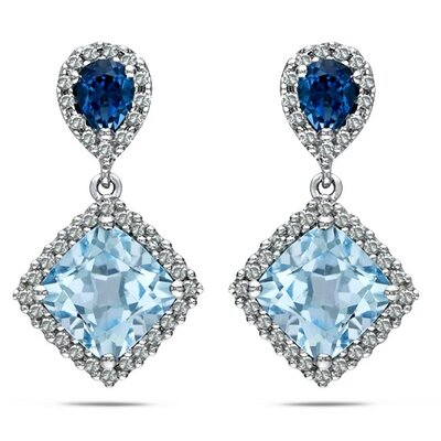 Cushion Cut Topaz Stud Earrings