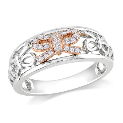 Pink Gold Round Cut Diamond Fashion Ring