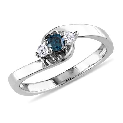 Sterling Silver Diamond Multi Stone Fashion Ring