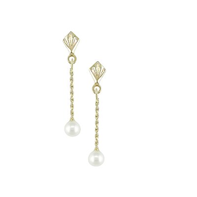 Amour Round Freshwater Pearl Dangle Earring