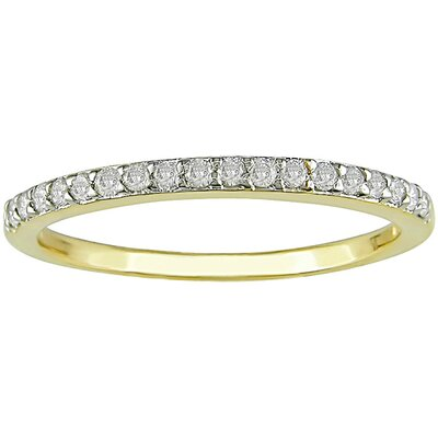 Amour Yellow Gold Round Cut Diamond Stacked Ring