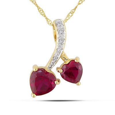 10K Yellow Gold Heart to Heart Pendant