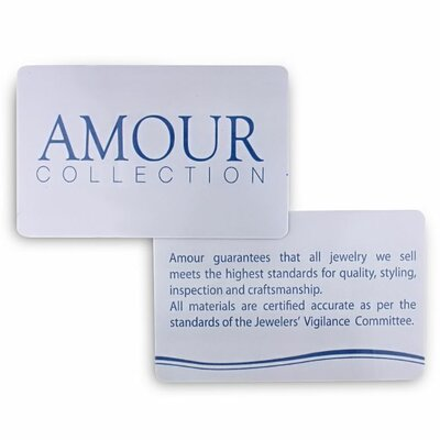 Amour Sterling Silver Round Cut Diamond and Sapphire Ring