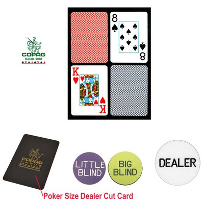 Copag Cards Dealer Kit Poker Size Playing Cards and Dealer Kit
