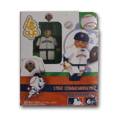 OYO Sports MLB Commemorative 1962 New York Mets Away Uniform Building-Toy Figure