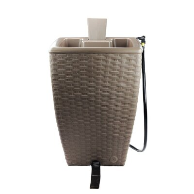 Forest City Models and Patterns Yimby 50 Gallon Wicker Style Rain Barrel