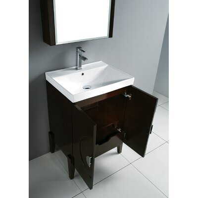 "Madeli Genova 24"" Bathroom Vanity Set with Glass Top"