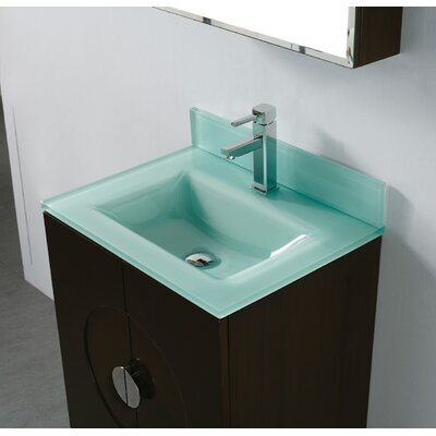 Madeli Tempered Glass Countertop Bathroom Sink - TS9-24-010-1-P ...