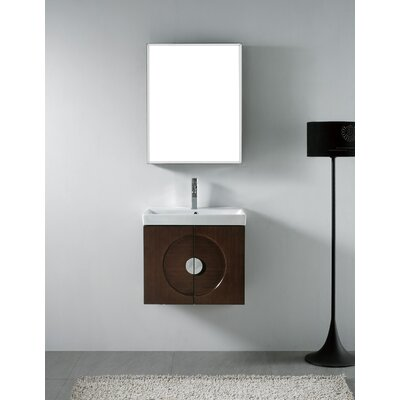 genova 24 single wall mounted bathroom vanity set with mirror