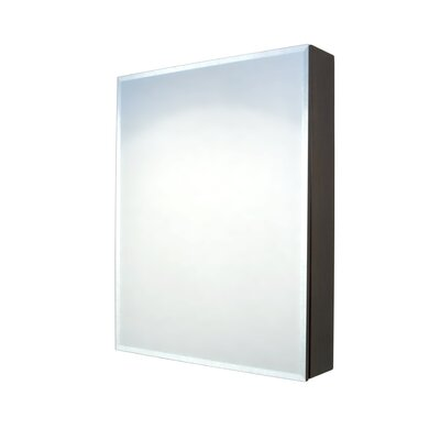 "Madeli 24"" W x 30"" H Surface Mount Medicine Cabinet with Beveled Mirror"