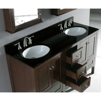 """Madeli Torino 60.25"""" Double Bathroom Vanity Set"""