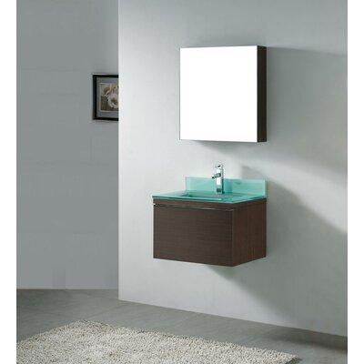 "Madeli Venasca 24"" Wall Mount Bathroom Vanity Set with Glass Top"