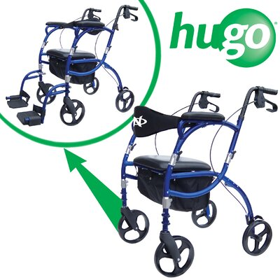 Hugo Navigator Combination Rolling Walker and Transport Chair