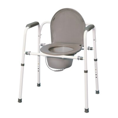 Versatile Homecare Commode Chair with Adjustable Height