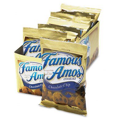 Kelloggs Famous Amos Cookies, Chocolate Chip, 2oz Snack Pack, 8 Packs per Box