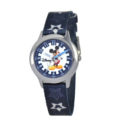 Kid's Mickey Mouse Time Teacher Printed Strap Watch in Blue